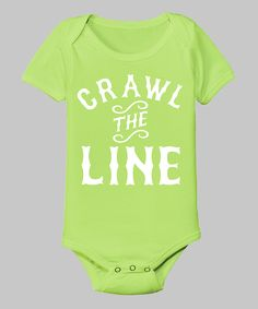 Key Lime 'Crawl the Line' Bodysuit - Infant | Daily deals for moms, babies and kids