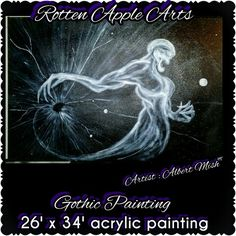 Gothic painting. Rotten Apple Arts Apple Art, Gothic, Paintings, Artwork, Movie Posters, Goth, Work Of Art, Painting, Draw