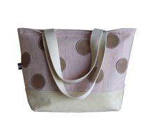 RAW UMBER Brown Leather Tote Bag  Ivory White by dawnaparis, €55.00