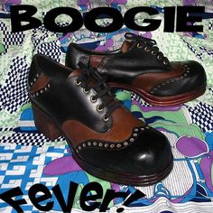 Boogie Fever - authentic 1970s DISCO SHOES from DressThatMan!