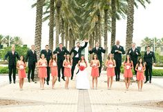 Jumping Picture #wedding #coral #marriage