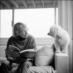 Photo of Mary Oliver and her dog Percy by Rachel Giese Brown.