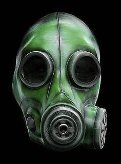 Gasmaske olivgrün aus Latex