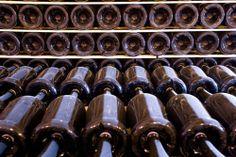Bottiglie in cantina