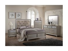 When it comes the feel of your bedroom, you don't want to compromise on style or comfort. With the Lila Collection Queen Bed by Crown Mark, you won't have to. Glam Bedroom Set, Queen Bedroom, Queen Headboard, Headboard And Footboard, Home Bedroom, Furniture Layout, Furniture Sale, Discount Furniture, Rustic Furniture