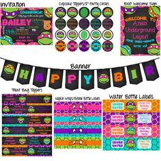 Ninja Turtles Printable Birthday Party Pack - YOU PRINT by MCPapery on Etsy