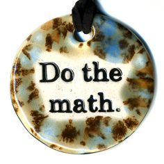 Do The Math Ceramic Necklace in Speckled Brown and Blue by surly, $18.00