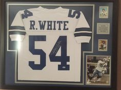 #Cowboys #RandyWhite framed jersey #jerseyframing #framedjersey