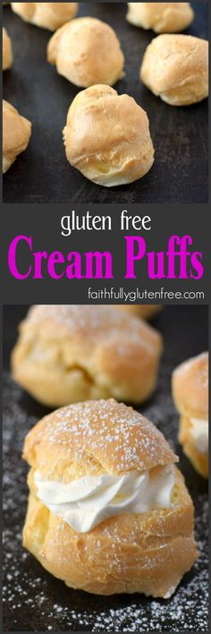 Cream Puffs What's your Filling? These Gluten Free Cream Puffs are perfect sweet or savory fillings!free Cream Puffs What's your Filling? These Gluten Free Cream Puffs are perfect sweet or savory fillings! Gluten Free Deserts, Gluten Free Sweets, Gluten Free Cakes, Foods With Gluten, Gluten Free Cooking, Cooking Food, Patisserie Sans Gluten, Dessert Sans Gluten, Gf Recipes