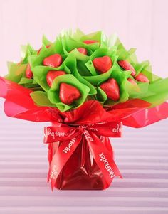 30 DIY Valentine Candy Bouquets Ideas