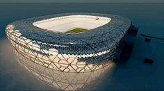 They are building so many stadiums across Iraq. It wouldn't hurt to incorporate these hexagonal photovoltaic panels into them to boost the structures's sustainability.