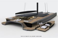Lymington-based Malcolm McKeon Yacht Design has unveiled an innovative superyacht catamaran concept to the market. The project has been designed in partnership with champion Australian yachtsman Mitch Booth. Yacht Design, Catamaran Design, Sailing Catamaran, Yacht Boat, Boat Design, Sailboat Yacht, Super Yachts, Baltic Yachts, Yacht Builders