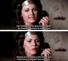 First episode of #WonderWoman, 1975 #feminism