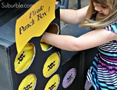 Make this easy and fun party game: a punch box! Kids of all ages can play! Suburble.com