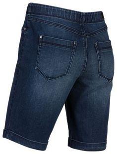 Natural Reflections Stretch Denim Bermuda Shorts for Ladies - Vintage Wash - 12