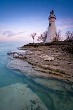Lighthouse in Marblehead State Park, Ohio (OH), USA