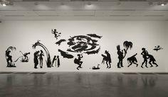 Kara Walker 'Grub for Sharks: A Concession to the Negro Populace' #artista #neoromanticismo #ilustrador #realismo