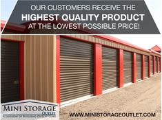 Mini Storage Outlet Supplier of Mini Storage Buildings, Self Storage Units and Storage Building Kits. We offer the Lowest Prices on Prefab Storage Buildings! Self Storage Units, Built In Storage, Storage Building Kits, Rolling Shutter, Storage Buildings, Shipping Containers, Prefab, Mini, Commercial