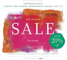 #newsletter Anthropologie | 04.2013