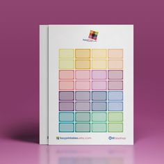 Half Boxes - Colourful Printable Stickers  // Perfect for Erin Condren Vertical Life Planner by FasyShop on Etsy