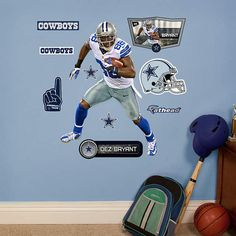 Fathead Dallas Cowboys Dez Bryant Jr Wall Graphic - Wall Sticker Outlet