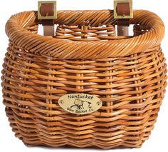 The Classic-Shape Bike Basket Made From Rattan — Nantucket Bike Basket Company Cisco Handlebar Basket