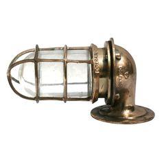 A brass ships lamp - circa 1900
