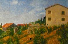 """Near Settignano"" (Award)  Giclee print: 24""x18"" $85.00 Free shipping: 2015 Contact: MB.artwork@verizon.net"