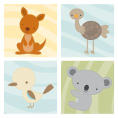 Australian Animal Nursery Prints and Canvases – Bundle Offer | News from Milly Bee