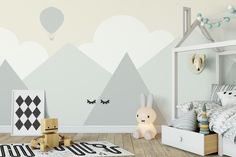 Decorative photos: painting ideas for children's rooms Toddler Bedroom Sets, Baby Bedroom, Baby Room Decor, Nursery Room, Boy Room, Child Room, Kids Bedroom Designs, Playroom Design, Baby Room Design