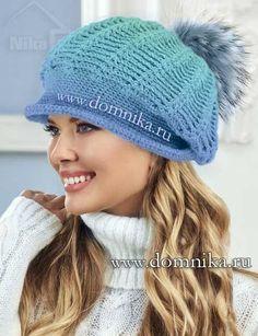 Теплая зимняя шапка крючком - модель зима 2016-2017