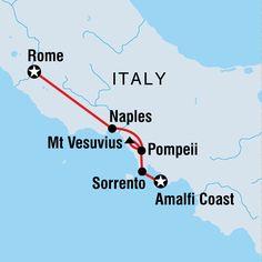 Map of Amalfi Coast Towns | Europe Travel, Travel Europe, Europe Tours, European Tours, European ...