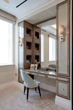 Bedroom dressing table - Awesome Makeup Table Design Ideas That You Must Copy Asap – Bedroom dressing table Bedroom Closet Design, Bedroom Wardrobe, Wardrobe Design, Closet Designs, Bedroom Decor, Master Bedroom, Bedroom Table, Dressing Room Decor, Dressing Room Design