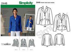 Simplicity 2446 amazing fit jacket