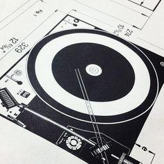 """#design #schematic #illustration #turntable #hifi #audio #dualturntable #phonograph #instructions #vintage"""