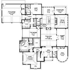 - 24607GK | 1st Floor Master Suite, Butler Walk-in Pantry, CAD Available, Corner Lot, Den-Office-Library-Study, European, French Country, Jack & Jill Bath, Luxury, MBR Sitting Area, Media-Game-Home Theater, PDF | Architectural Designs