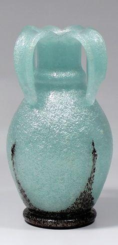 Emanuel Beránek (1899-1973) Váza, 1941 sklo čeřené (pulegoso)