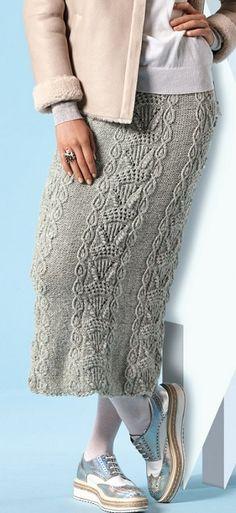 Модная юбка спицами