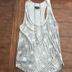 Tank top Racer back tank top. Small stain (see last pic), but barely noticeable. Rock & Republic Tops Tank Tops