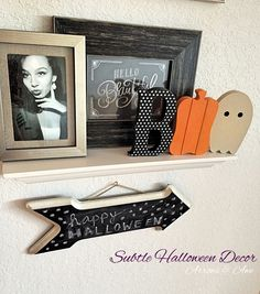 subtle halloween decor. quick and simple way to decorate your home for halloween