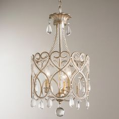 Clear Hanging Crystal Mini Chandelier