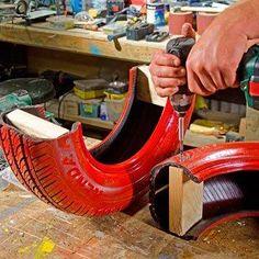 DIY: How to make a tire swing - Dekoration Ideen 2019 Kids Outdoor Playground, Kids Backyard Playground, Backyard For Kids, Backyard Games, Diy For Kids, Tyre Ideas For Kids, Tire Craft, Tire Garden, Home Design Diy