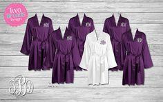 Bridesmaid gift BRIDESMAID ROBES  Set of 2 3 4 5 6 Robes