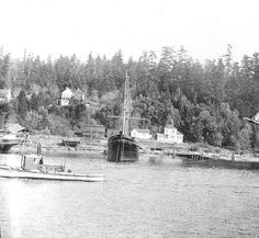 Columbia River port of Skamokawa, Washington, early 1900's :: Ben Maxwell Collection