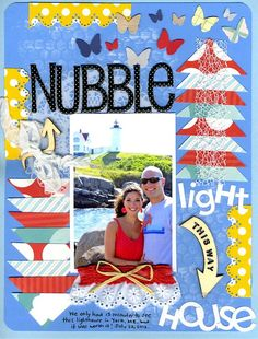 vacation scrapbooking layout