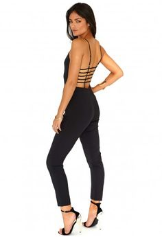 Drina Cage Back Jumpsuit - Jumpsuits - Jumpsuits & Playsuits - Missguided | Ireland