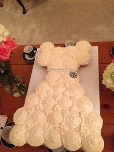 Bride cupcake bridal shower