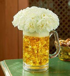 beer mug flowers