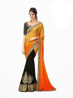 Multi Colour Embroidered Faux Georgette Designer Saree By Reda - Buy Multi Colour Georgette Embroidered Saree For only Rs.841 from Godomart Online Shopping Store India. Shop Online for Best Saree Collection Only at Godomart.com