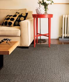 Lovely Carpet Tiles In Basement
